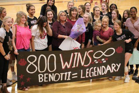 Coach Benottis 800th Volleyball Win